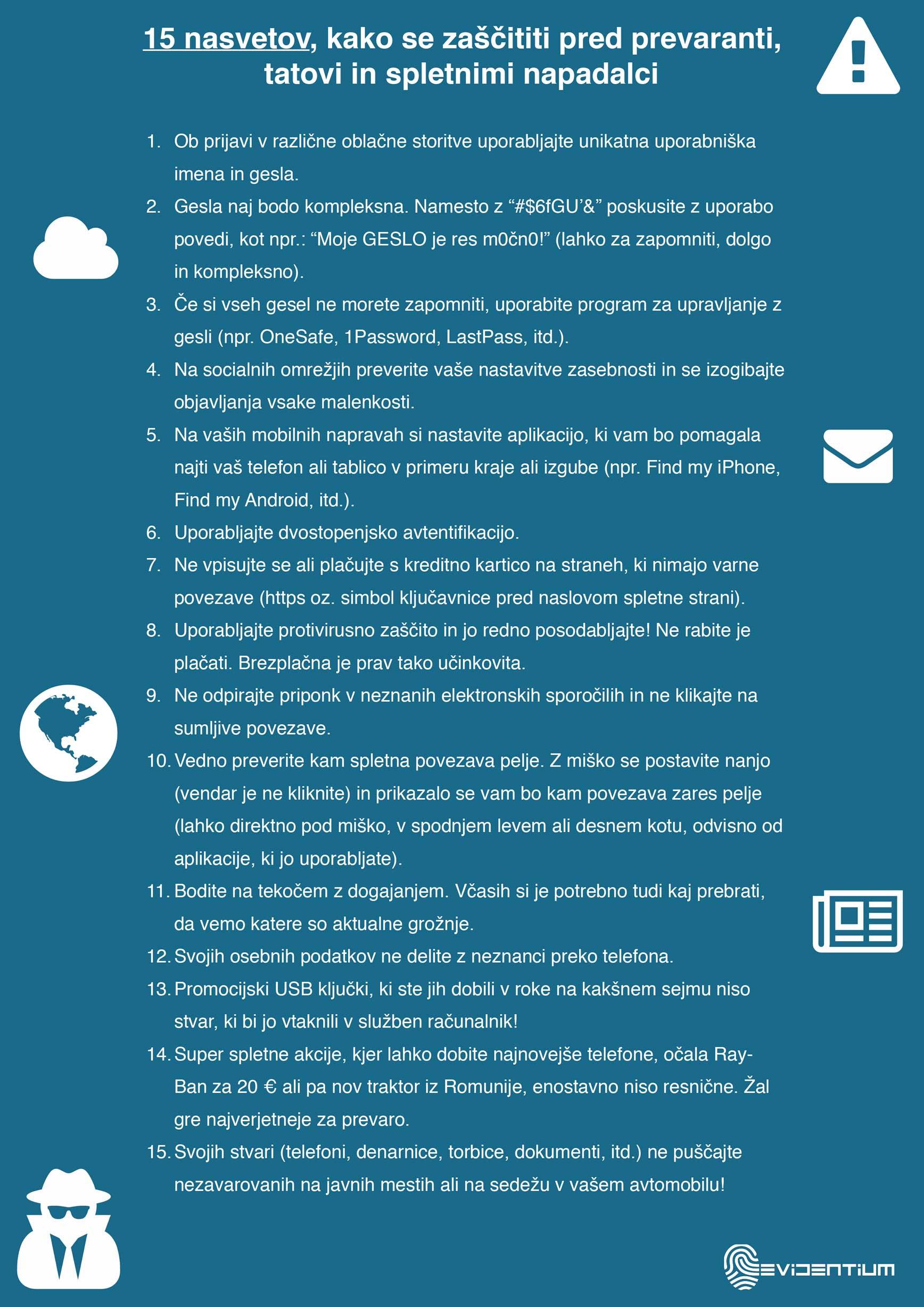 15 nasvetov kako se zaščititi pred prevaranti, tatovi in spletnimi napadalci