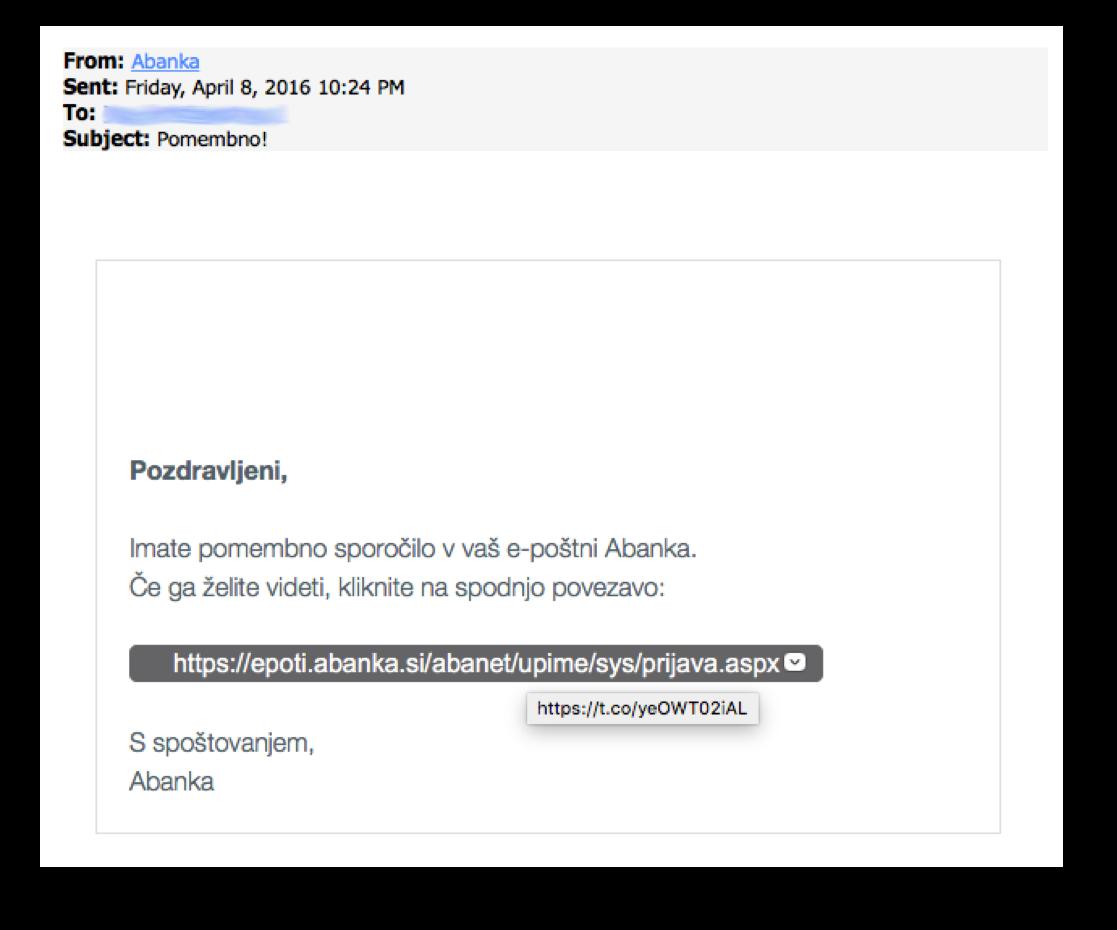 Kako ugotoviti kam povezava v elektronskem sporočilu dejansko pelje, ne da bi nanjo kliknili
